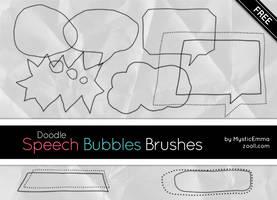 Doodle Speech Bubbles Brushes by MysticEmma