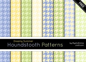 Dreamy Summer Houndstooth Patterns by MysticEmma