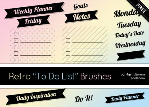 Retro To Do List Brushes