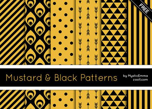 Mustard And Black Patterns
