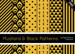 Mustard And Black Patterns