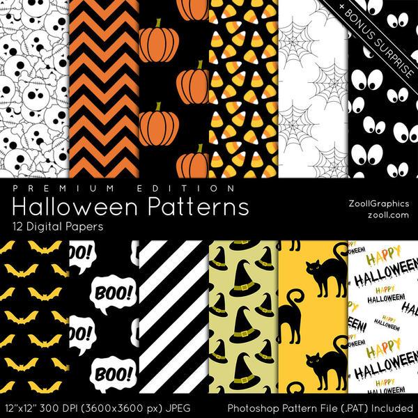 Halloween Patterns - Premium Edition