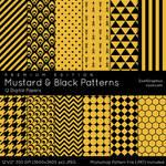 Mustard And Black Patterns - Premium Edition