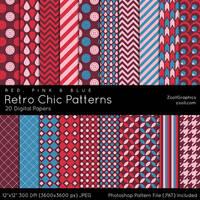 Retro Chic Patterns by MysticEmma