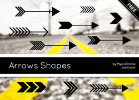 Arrows Shapes by MysticEmma