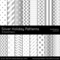 Silver Holiday Patterns by MysticEmma