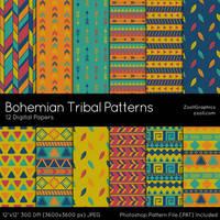 Bohemian Tribal Patterns by MysticEmma