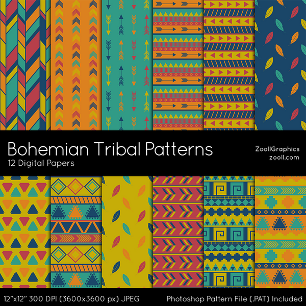 Tribal Patterns] Tribal Pattern Free Vector Download 18838