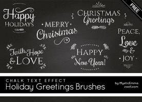 Holiday Greetings Brushes by MysticEmma