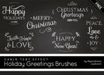 Holiday Greetings Brushes