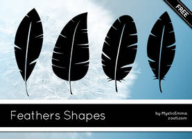 Feathers Shapes by MysticEmma