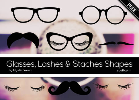 Glasses, Lashes And Staches Shapes