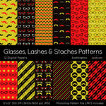 Glasses, Lashes And Staches Patterns