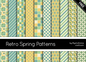 Retro Spring Patterns by MysticEmma