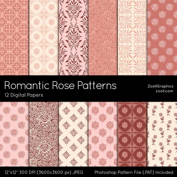 Romantic Rose Patterns by MysticEmma