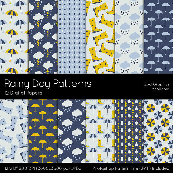 Rainy Day Patterns by MysticEmma
