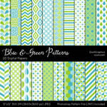 Blue And Green Patterns