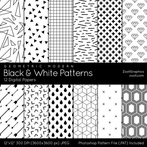 Black And White Patterns by MysticEmma