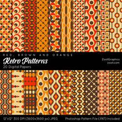 Retro Patterns by MysticEmma