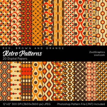 Retro Patterns by MysticEmma