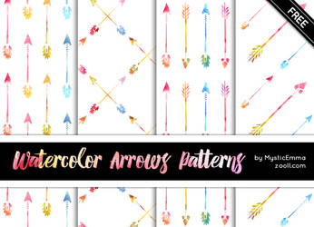 Watercolor Arrows  Patterns by MysticEmma