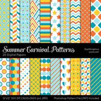 Summer Carnival Patterns by MysticEmma