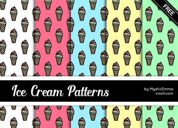 Ice Cream Patterns by MysticEmma