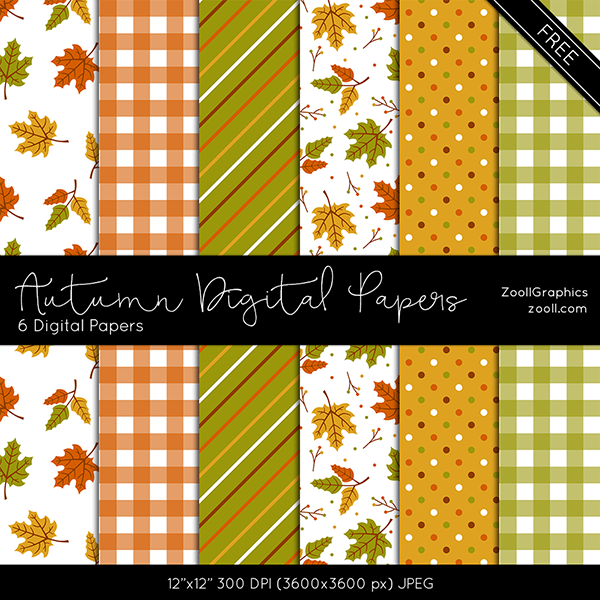 Autumn Digital Papers by MysticEmma
