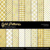 Gold Patterns by MysticEmma