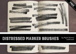 Distressed Marker Brushes