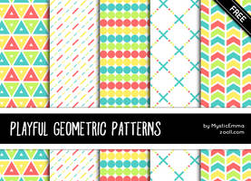 Playful Geometric Patterns by MysticEmma