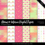 Arrows And Mosaic Digital Papers