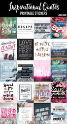 Inspirational Quotes Printable Stickers