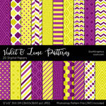 Violet And Lime Patterns
