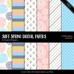 Soft Spring Digital Papers