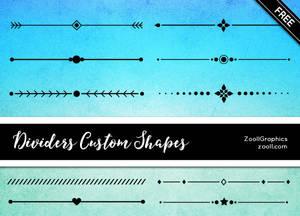 Dividers Custom Shapes