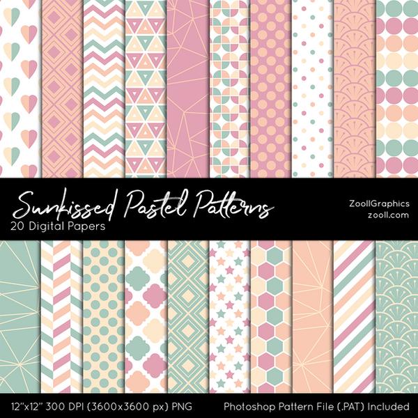 Sunkissed Pastel Patterns by MysticEmma