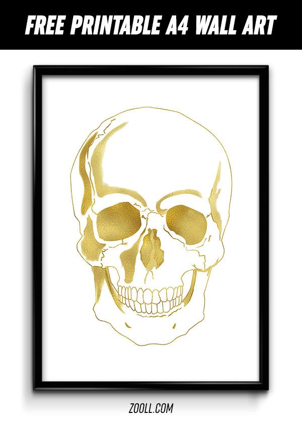 gold skull a4 print by mysticemma on deviantart. Black Bedroom Furniture Sets. Home Design Ideas
