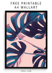 Palm Leaf A4 Print by MysticEmma