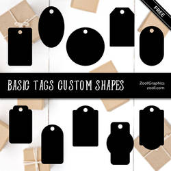 Basic Tags Custom Shapes by MysticEmma