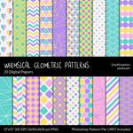 Whimsical Geometric Digital Papers