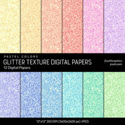 Glitter Texture Digital Papers by MysticEmma