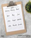 Calendar 2019 A4 Printable by MysticEmma