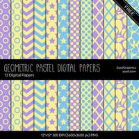 Geometric Pastel Digital Papers