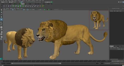 Spore Lion vs Real 3d Lion by Evilution90