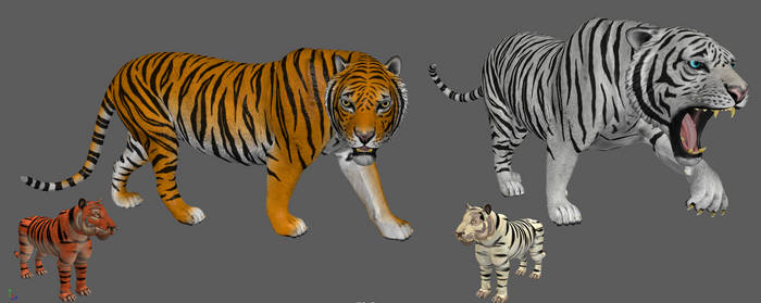 spore Bengal Tiger vs real 3d  Bengal Tiger by Evilution90