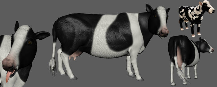 Spore Cow vs real 3d Cow by Evilution90