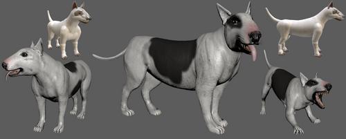 Spore Bull Terrier vs real 3d Bull Terrier by Evilution90