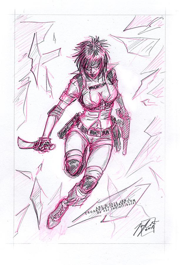 Sketchavember LADY by croaky