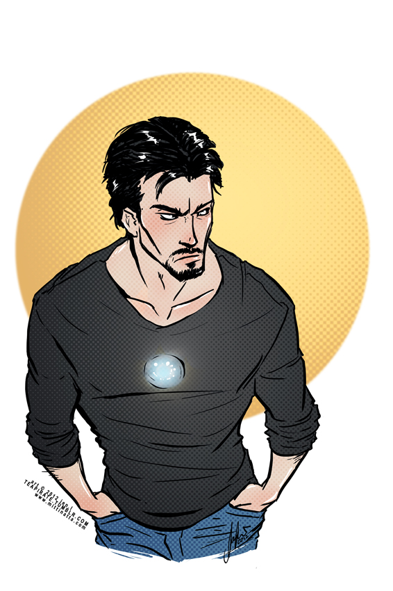 Tony Stark starkly put-out by croaky